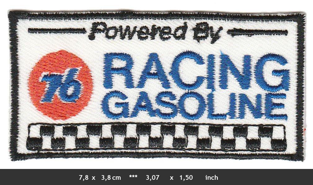 76 /Écusson /à Coudre Union Gasoline pour Sport de Course /à Pied /à Essence USA Blanc