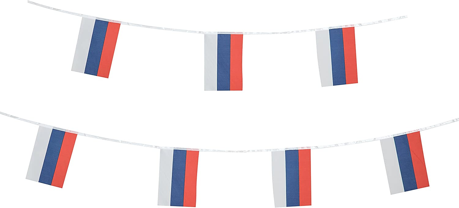 TSMD Russia Flag, 100 Feet Russian Flag National Country World Pennant Flags Banner,Party Decorations for Olympic,Grand Opening,World Cup,Bar,School Sports Events,International Festival Celebration