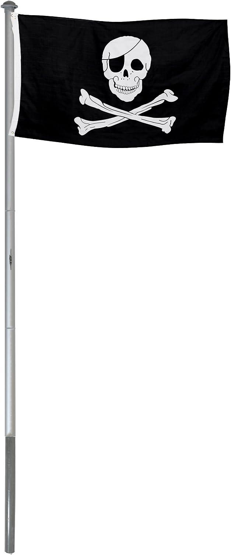 BRUBAKER M/ástil Aluminio Exterior 4 m Incluye Bandera de Italia 150 x 90 cm y Soporte de Tierra