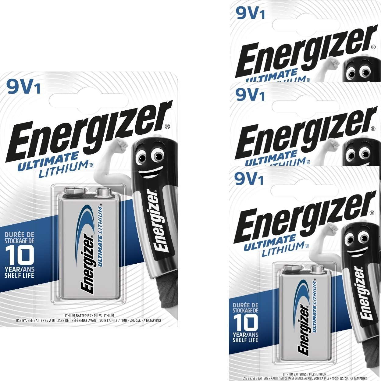 Energizer 4 9v Lithium Batterien Lithium 9v Block Elektronik