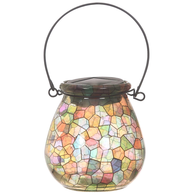 CEDAR HOME Solar Lantern Light Outdoor Decorative LED Waterproof Portable Hanging Lamp, Kaleidescope