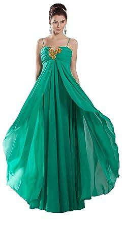 herafa p32132-8 Prom Dresses Elegant Spaghetti Straps Sleeveless Delicate Beading Maxi 0 Empire Line