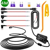 iiwey Dash Cam Hardwire Kit, 4 Meter Dashboard Camera Car Charger Cable Kit 12V- 24V to 5V, Power Adapter with LP/Mini/ATO/Mi
