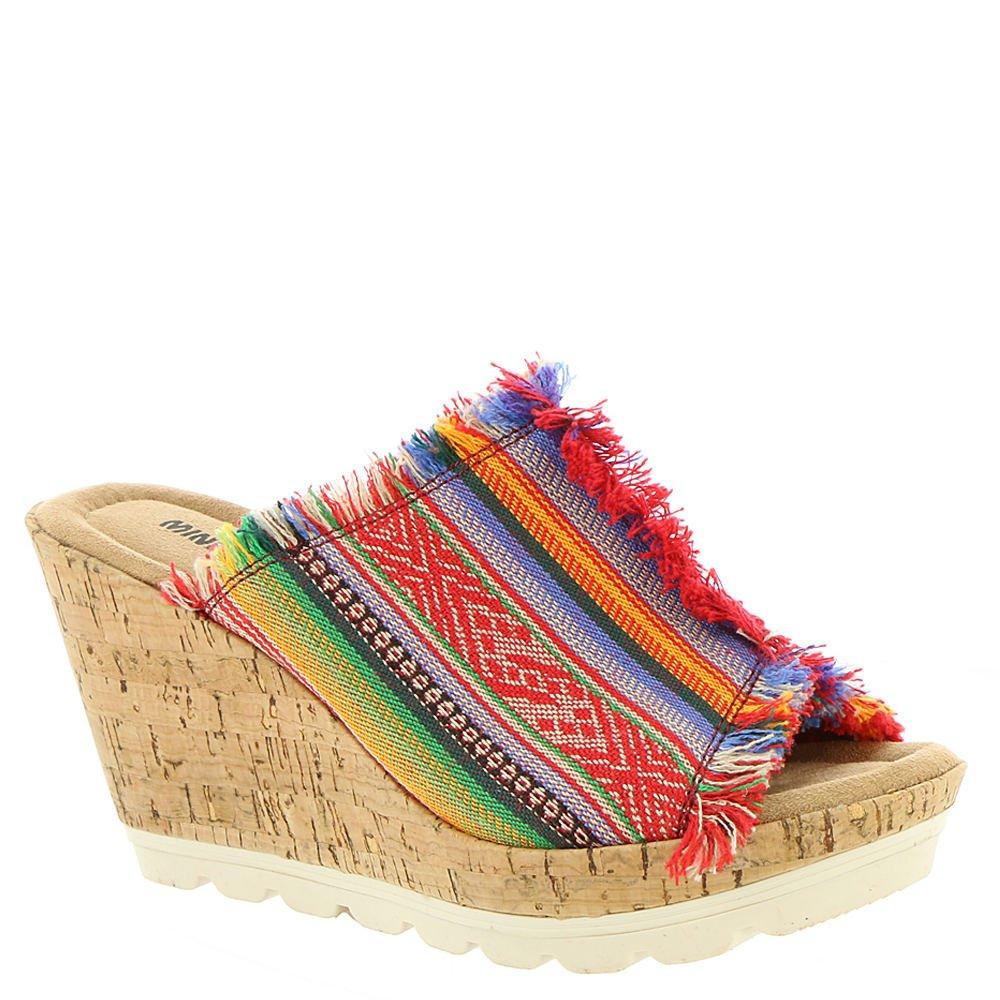 Minnetonka Women's York Wedge Sandals B074WC4VPV 6 B(M) US Frisco Stripe Fabric