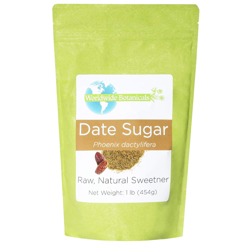 Worldwide Botanicals Date Sugar - 100% Pure Dried Dates, Natural Whole Food Sweetener, Gluten-Free, Granular, 1 Pound