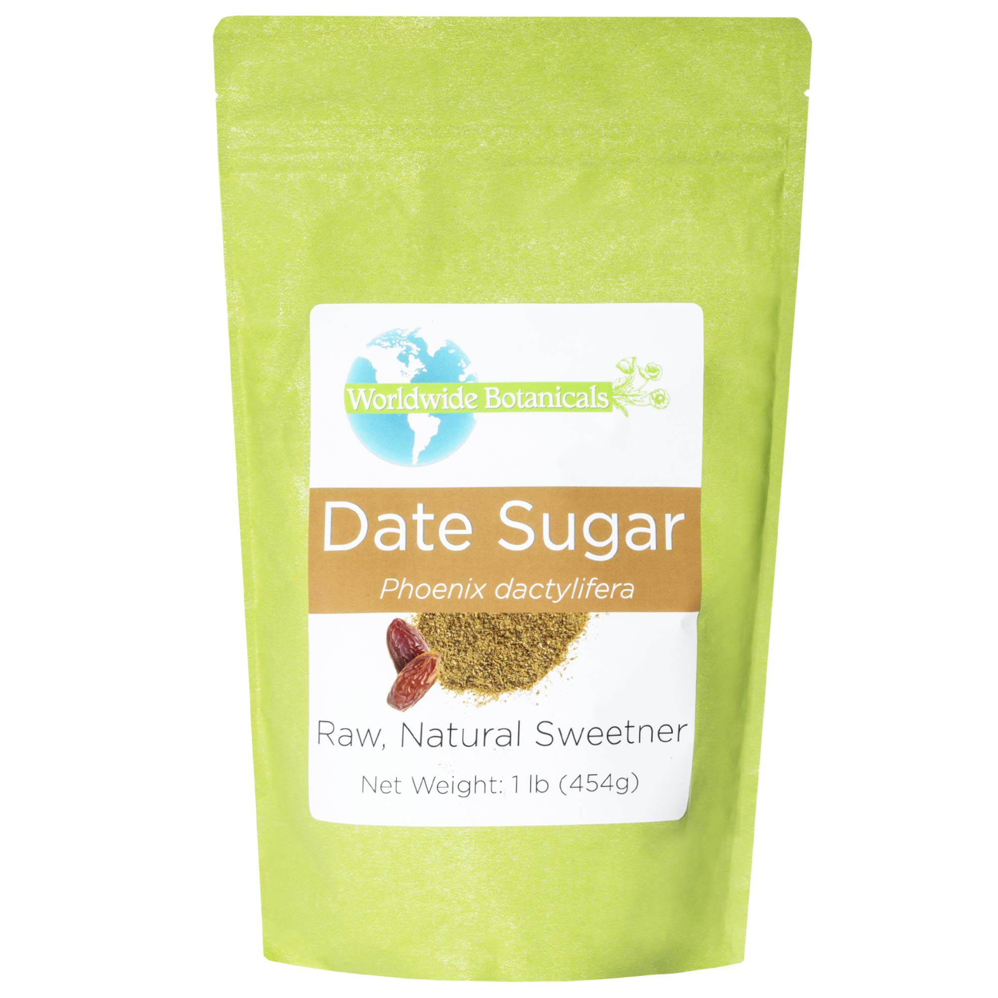 Worldwide Botanicals Organic Date Sugar, Certified Organic, 100% Pure, Natural Whole Food Sweetener, Certified Gluten-Free