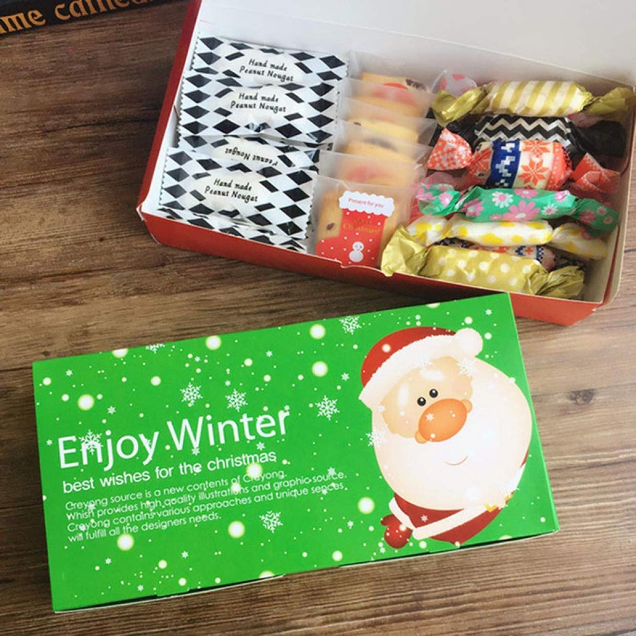 WeishenG Galletitas de Navidad,empaquetadas de Galletas Rojas ...