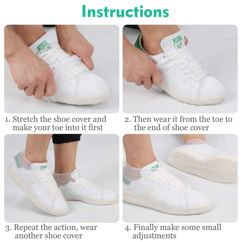 Couvre-Chaussures r/éutilisables imperm/éables Pliables pour Hommes Enfants Femmes GH GHawk/® Couvre-Chaussures en Silicone imperm/éable /à leau