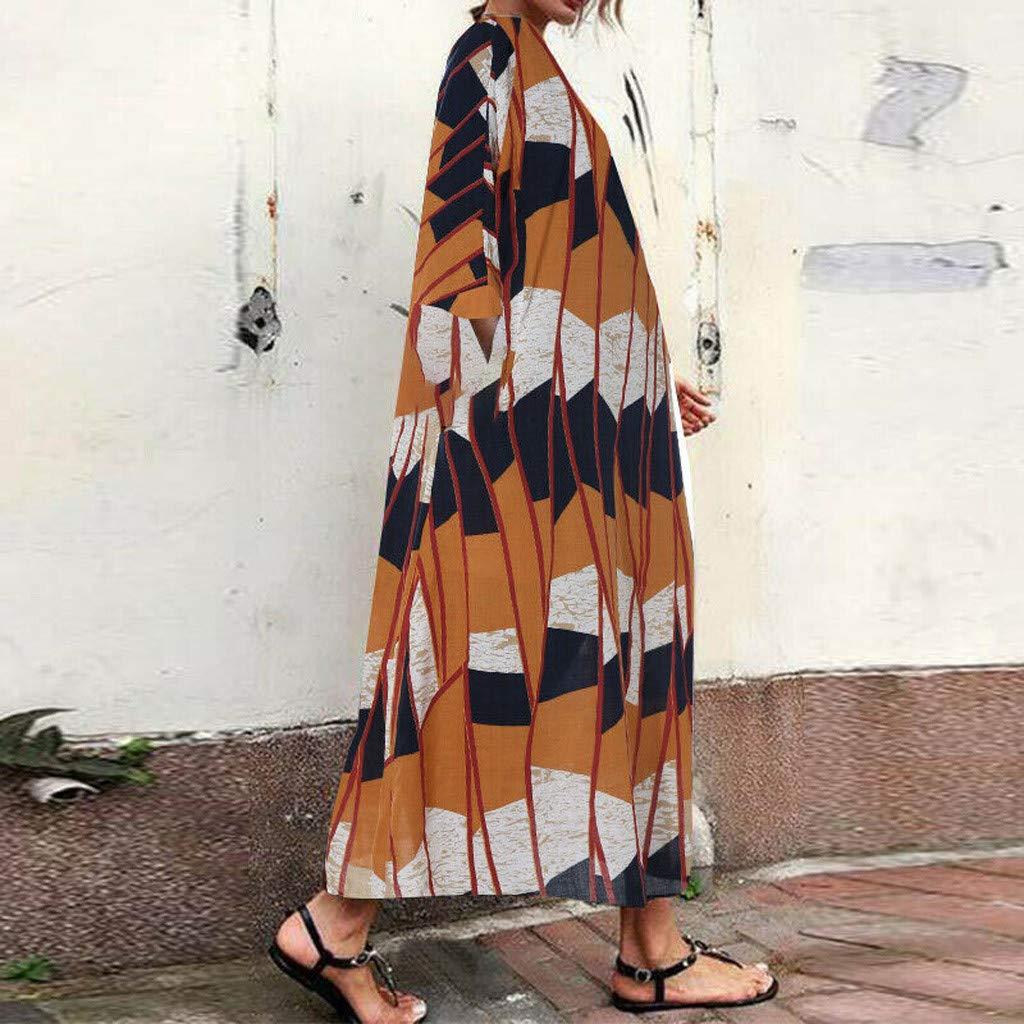 Seringlings Verano Moda Mujer Gran tamaño algodón y Lino Color ...