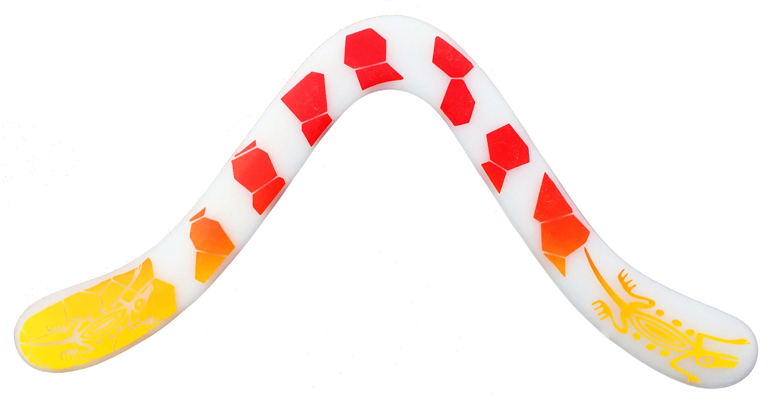 Technic Gecko Decorated Boomerang - Fantastic Beginner Boomerang for Ages Above 8 Years Old. by Colorado Boomerangs