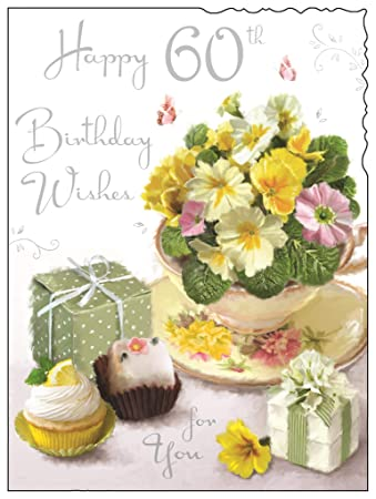 Female 60th Birthday Card JJ V286