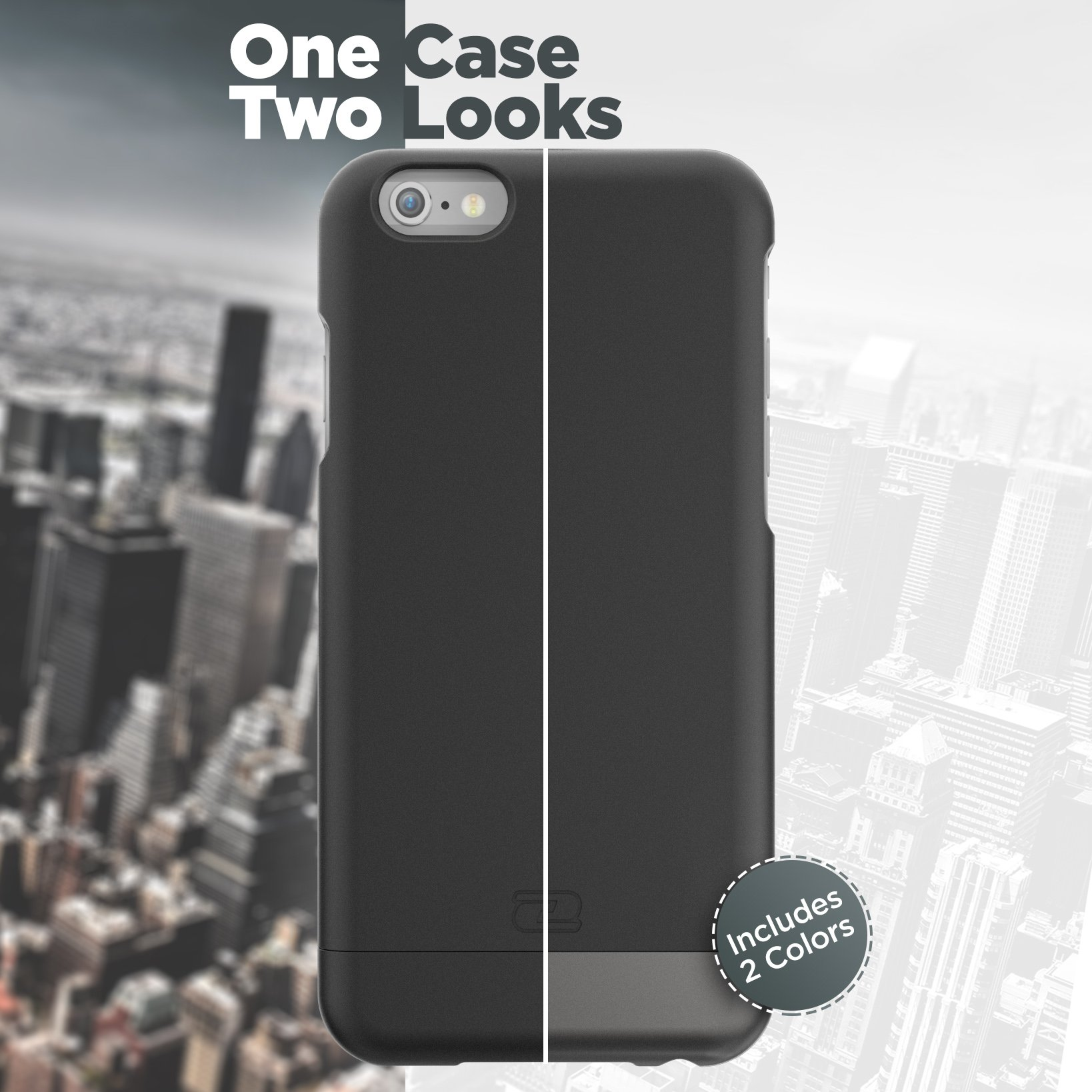 Encased Belt Case iPhone 6/6S, [SlimShield Series] Protective Grip Case with Holster Clip for Apple iPhone 6 (Smooth Black) by Encased (Image #3)