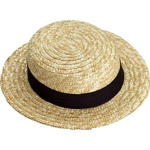 Amazon.com  Forum Novelties Straw Skimmer Hat Standard Adult  Clothing 853d75a1acb