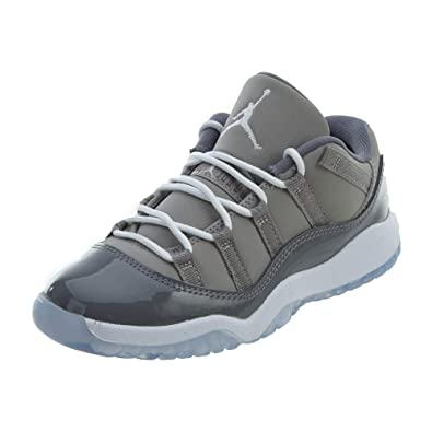 NIKE Jordan Kids' Preschool Air Jordan 11 Retro Low Basketball Shoes (1, Grey