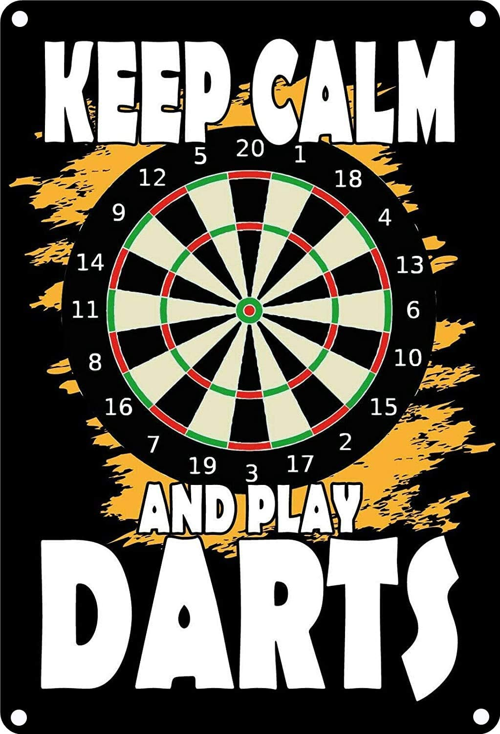 Vintage Tin Poster Keep Calm and Play Darts Metal Tin Sign 8x12 Inch Retro Home Kitchen Office Garden Garage Wall Decor Tin Plaque New