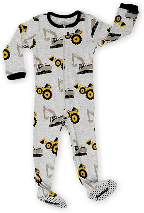 9e3ce9ce67 Pijama De 1 Pieza para Niños con Suelas 100% Algodon (6 Meses-5 Años) (