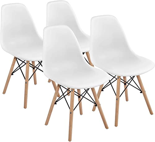 Yaheetech 4PCS Dining Chairs Mid Century Side Chairs Pre Assembled Chairs DSW Shell Eiffel Chair
