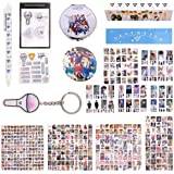 Fatyi Seventeen Gift Set for Lomo Card, Sticker, 3D Sticker, Mirror, Notebook, Keychain, Tape, Badge, Banner and Phone…