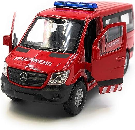 Onlineworld2013 Modellauto Feuerwehr Auto Sprinter Rot Auto Maßstab 1 34 39 Lizensiert Auto