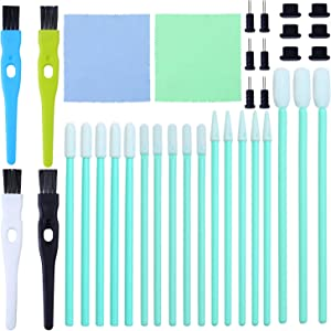 Aneco 58 Pieces Cell Phone Cleaning Kit Brush Set USB Charging Port Headphone Jack Cleaning Kit and Dust Plug Compatible with iPhone, iOS Android, Cell Phone, Electronics Cleaner