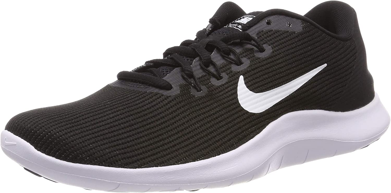 Nike Men s Flex 2018 Rn Black White Black Running Shoe 12 Men US