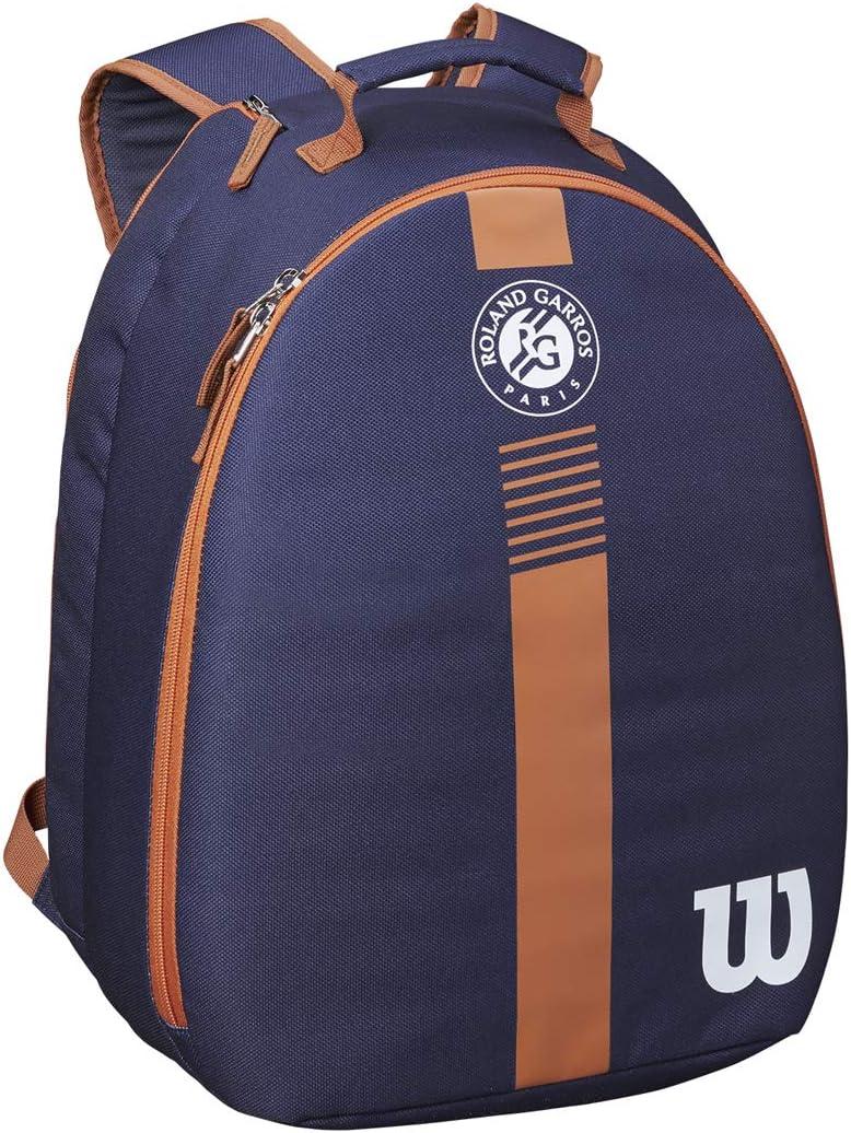Wilson Roland Garros Youth Backpack Mochila juvenil de Tenis, Unisex Adulto, Azul/Marrón, 1 raqueta