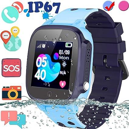 Amazon.com: Reloj inteligente para niños con GPS, reloj ...