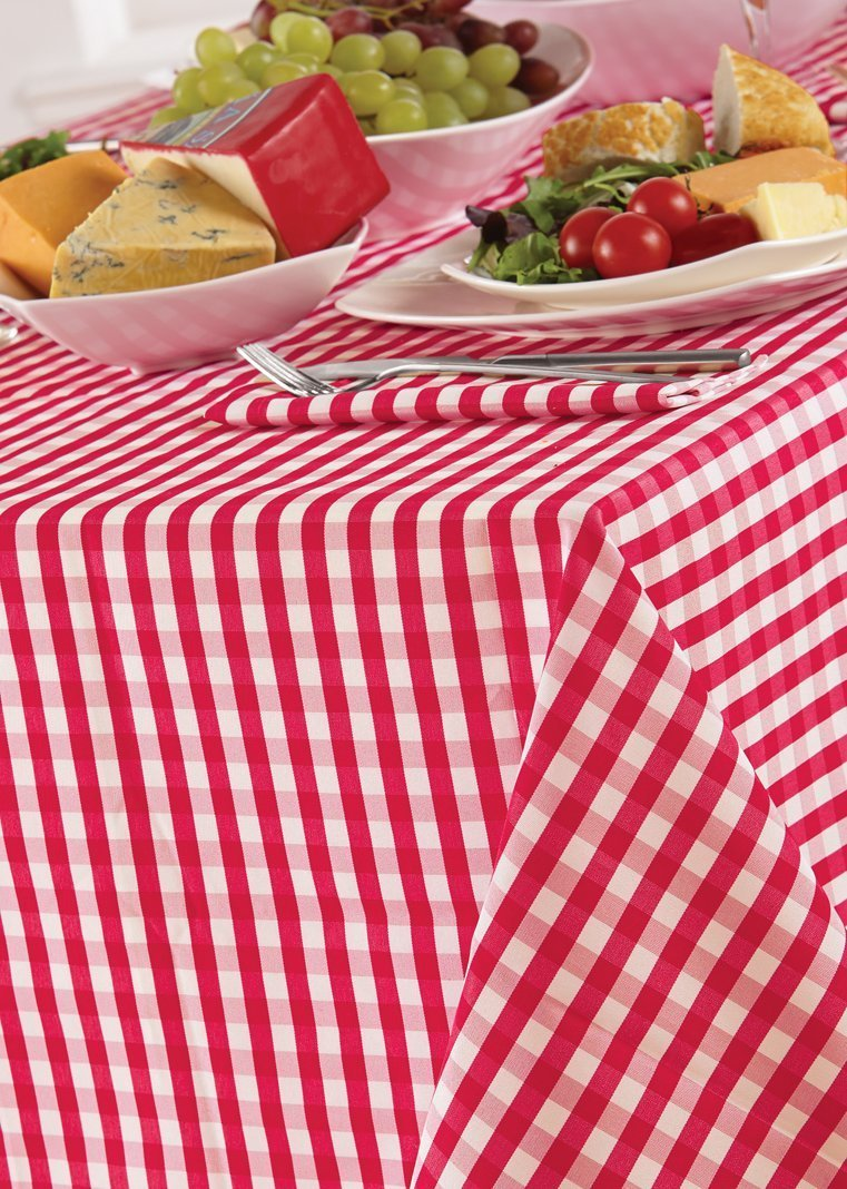 Country Look Gingham Sage Pack Of 4 Napkins 16in x 16in (40x40cm) 4 Your Home