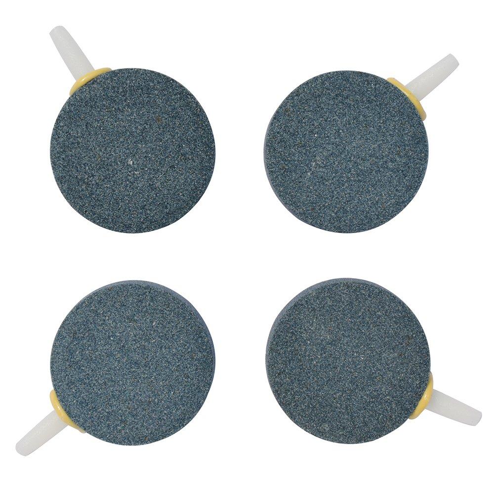 (4 PCS) Pawfly 4.1cm Air Stone Bubble for Aquarium Fish Tank Hydroponics Pump Ceramic Airstones Diffuser