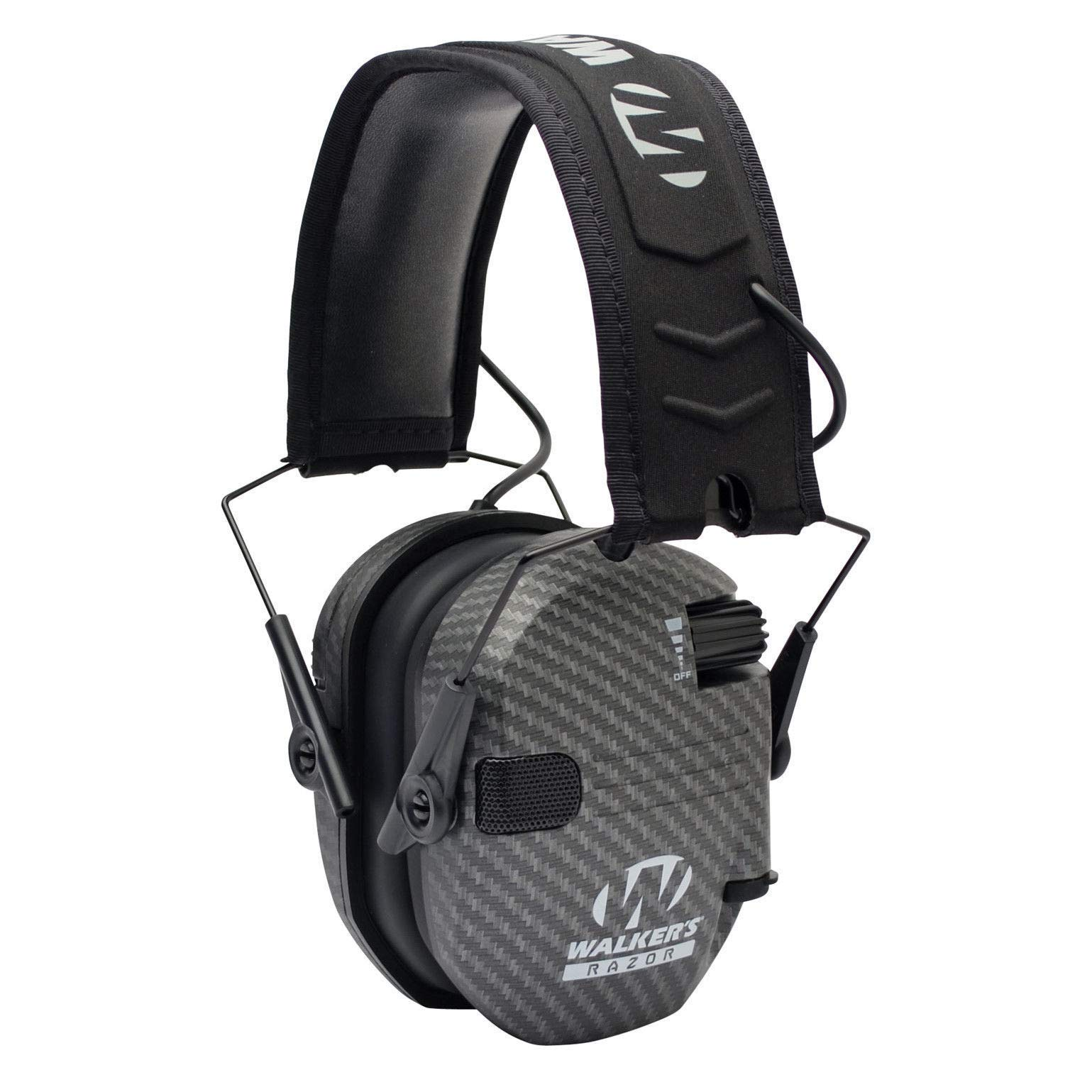Walkers Razor Slim Electronic Hearing Protection Muffs with Sound Amplification and Suppression and Shooting Glasses Kit, Carbon by Walkers (Image #4)