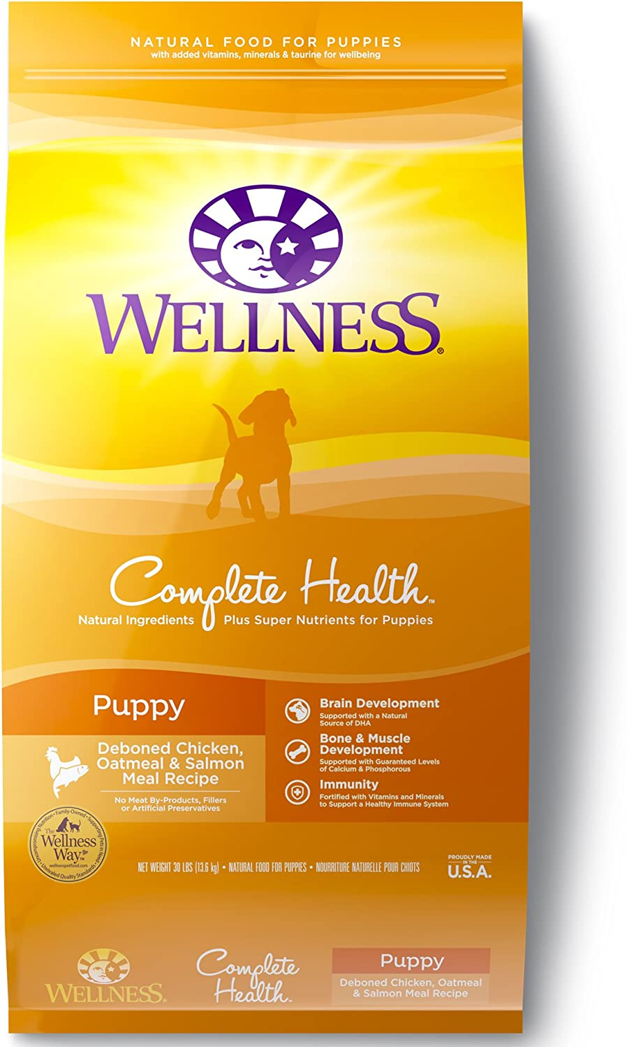 Wellness Complete Health Natural Dry Puppy Food, Chicken, Salmon Oatmeal