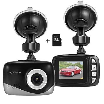 Mini Coche Dash Cam, Foxcesd Full HD 1080P Dashcam Cámara De Coche 140 Grados De
