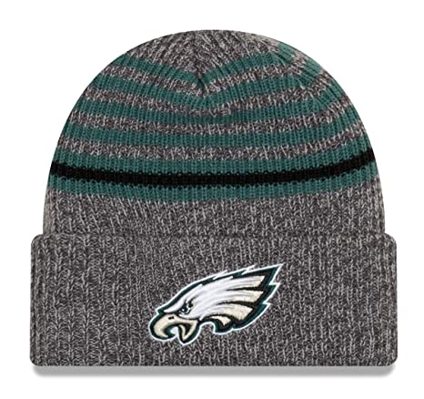 17b64ef2090 Image Unavailable. Image not available for. Color  New Era Philadelphia  Eagles Stripe Strong Cuffed Knit Hat Cap