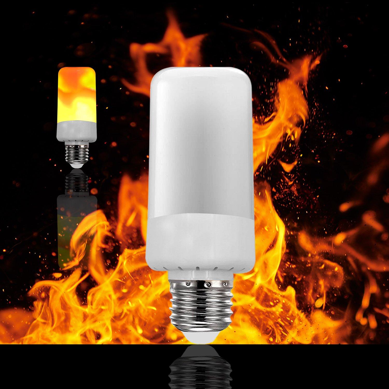 LED Flame Effect Fire Light Bulbs,E26 LED Flickering Flame Light Bulbs,Simulated Decorative Light Atmosphere Lighting Vintage Flaming Light Bulb for Festival Hotel/ Bars/ Home Decoration Restaurants
