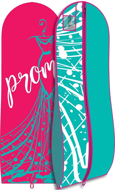 Pretty Travel Gown Garment Bag Long Prom Dress Bag 72x24-10 Gusset Pink /& Black Dress Print