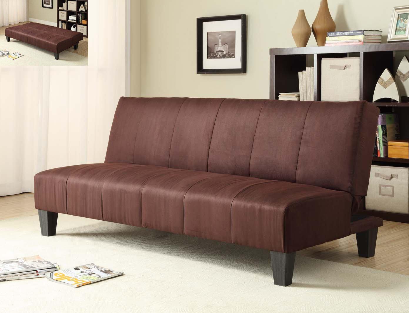 amazoncom milton greens stars winchester microfiber clickclack sofa bed dark brown kitchen u0026 dining