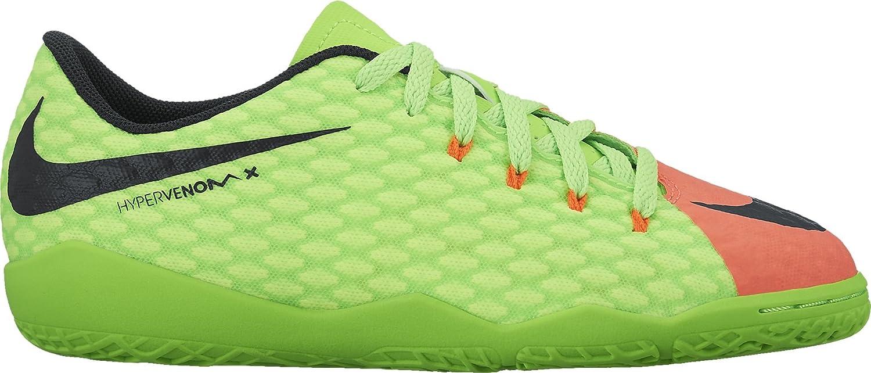 Color: Red-Green JR Hypervenomx Phelon Iii IC Nike 852600308 Size: 4 Big Kid