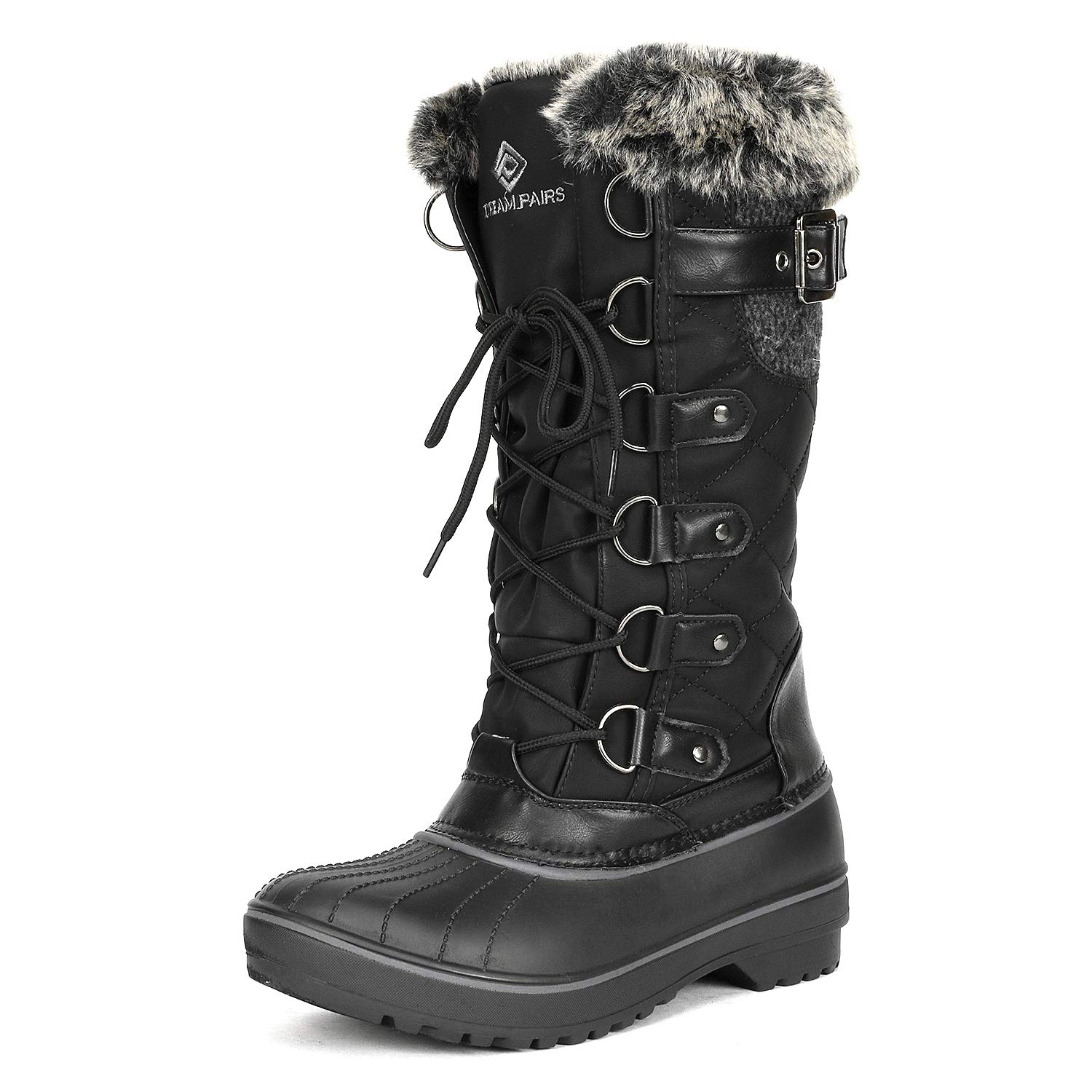 39ac04c90b4 DREAM PAIRS Women's DP Warm Faux Fur Lined Mid Calf Winter Snow Boots