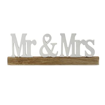 knuellermarkt.de Schriftzug Holz MR & MRS Buchstaben weiß Hochzeit ...