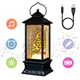 "Eldnacele 12"" Musical Snow Globe Lantern"