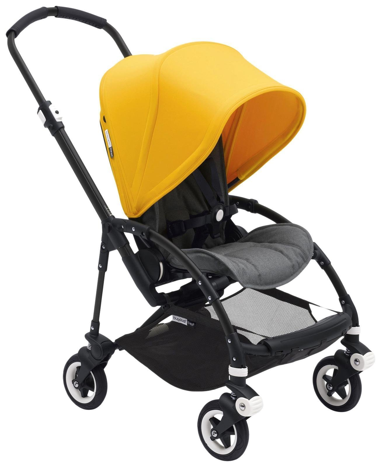 Bugaboo Bee5 Complete Stroller, Black, Grey Melange, Sunrise Yellow