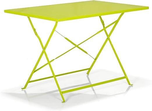 Alinéa Pims Table de Jardin rectangulaire et Pliante Vert ...