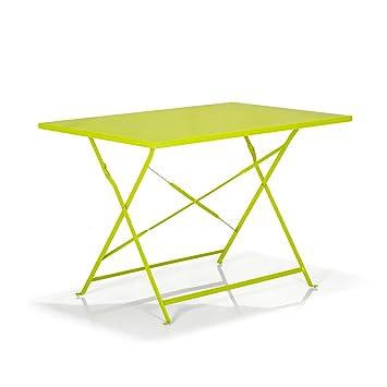 Pims Table de jardin rectangulaire et pliante vert Vert ...