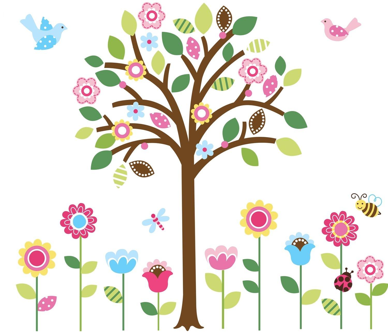 Amazon.com: Pretty Pastel Garden Giant Peel U0026 Stick Wall Art Sticker  Decals: Baby