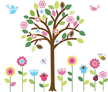 Pretty Pastel Garden Giant Peel U0026 Stick Wall Art Sticker Decals