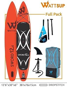wattsup Sword 12.6 Windsurf Sup 381 cm x 76 cm x 15 cm ...