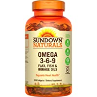 Sundown Omega 3-6-9 Soft Gels, 200 Count