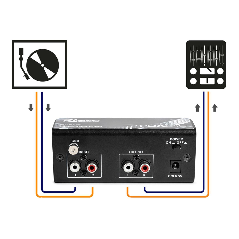 El PDX010 es un preamplificador de Phono para poder conectar giradiscos a una entrada linea de amplificador: Amazon.es: Instrumentos musicales