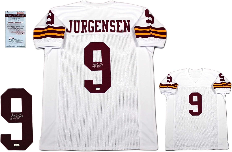 Sonny Jurgensen Autographed SIGNED Jersey - JSA Witnessed ...