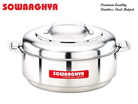 Sowbaghya Stainless Steel Casseroles  Hotpot   1500ml